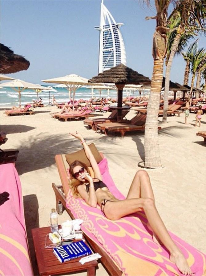 Liliana Matthäus erschreckend dünn in Dubai