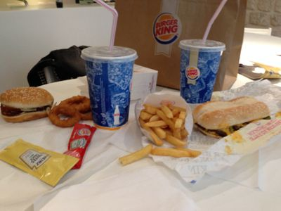 Notre festin Burger King