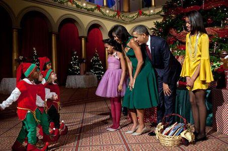 La familia Obama celebra la Navidad