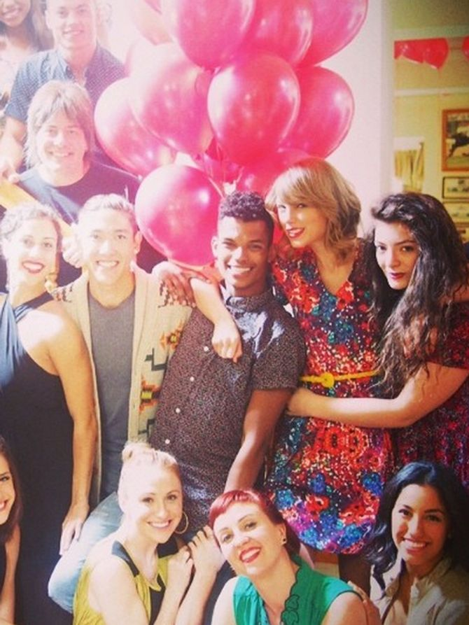 Taylor Swift, Lorde, and others at Taylor Swift's Birthday Party