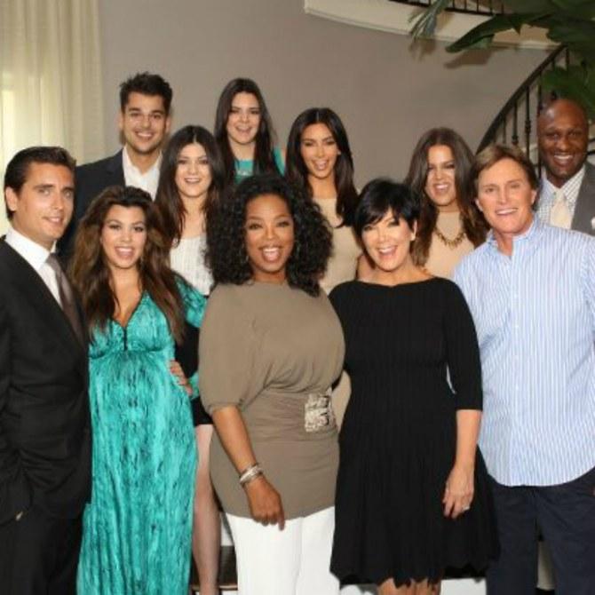 Kardashian-Clan mit Oprah Winfrey