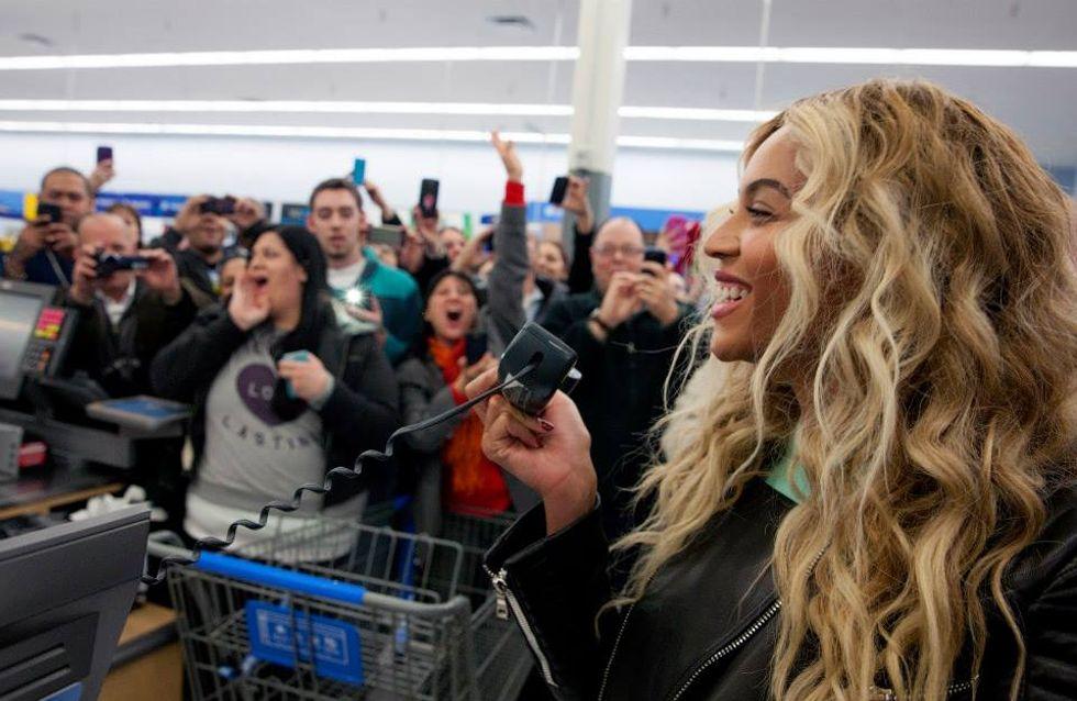 Beyoncé : Un passage surprise au supermarché pour gâter ses fans (Photos)
