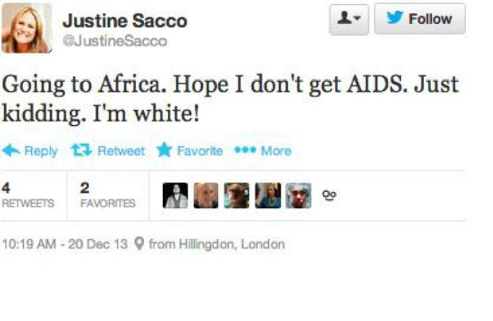 Un tweet raciste ruine sa vie