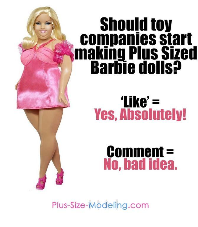 """Les fabricants de jouets doivent-ils faire des poupées """"plus size"""""""