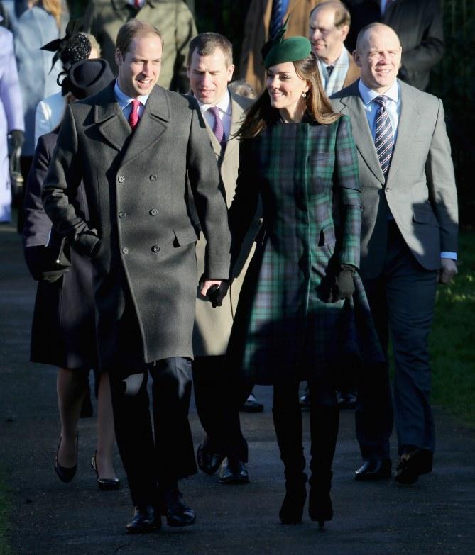 Kate Middleton à Sandringham le 25 décembre 2013