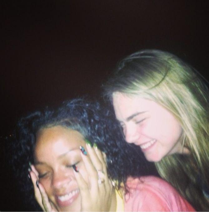 Rihanna et Cara Delevingne