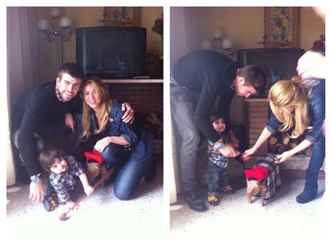 Le premier Noël de Milan avec Shakira et Gerard Piqué