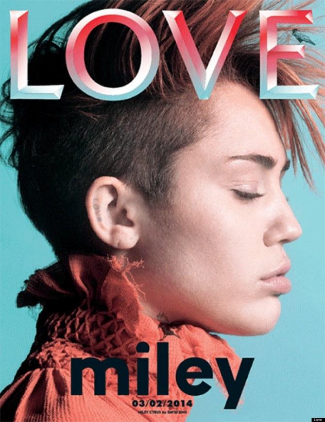 Miley Cyrus en couverture de Love Magazine
