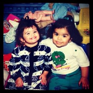 Selena Gomez enfant avec son amie Priscilla