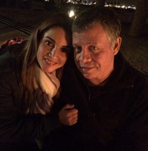 Rania de Jordania y su marido