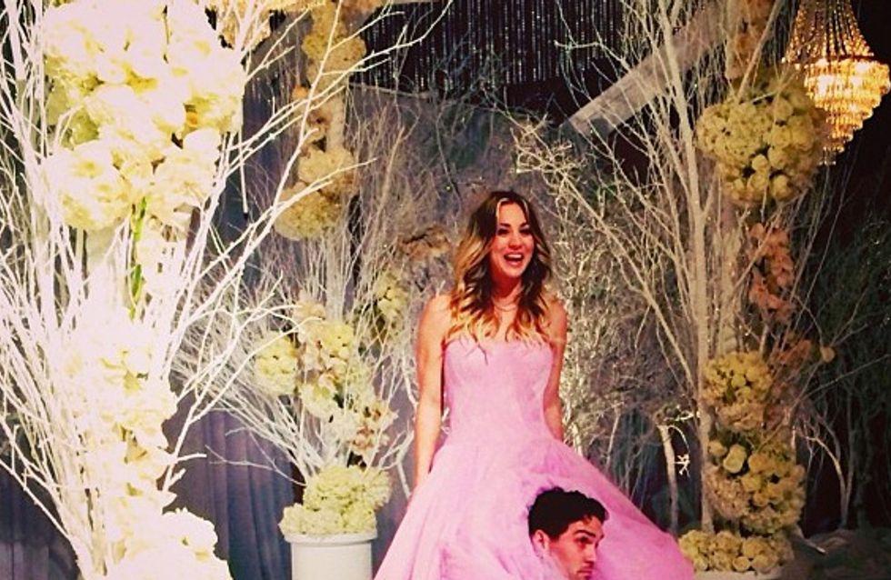 Kaley Cuoco : Elle s'est mariée dans une robe rose Vera Wang (Photos)