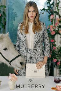 Cara Delevingne's SS14 animal-lover Mulberry campaign