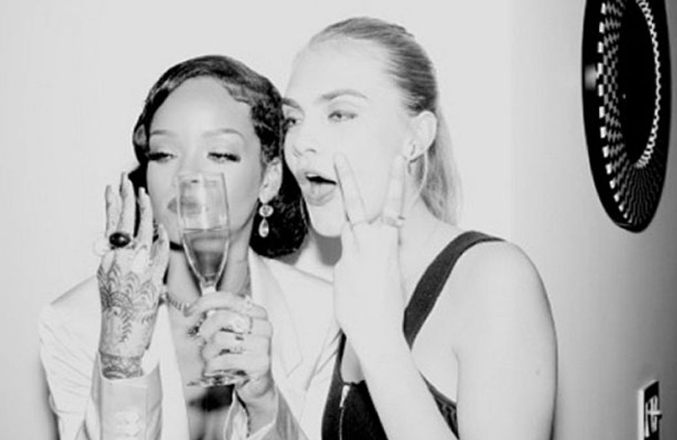 Rihanna and Cara Delevingne celebrated New Year's Eve in style
