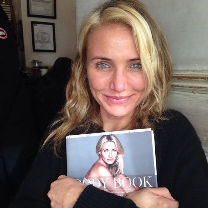 Cameron Diaz et son livre The body Book