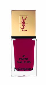 Le vernis Piment d'Ailleurs, collection Spicy, Yves Saint Laurent