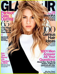 Shakira en couverture de Glamour, février 2014