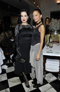Nicole Richie & Dita Von Teese