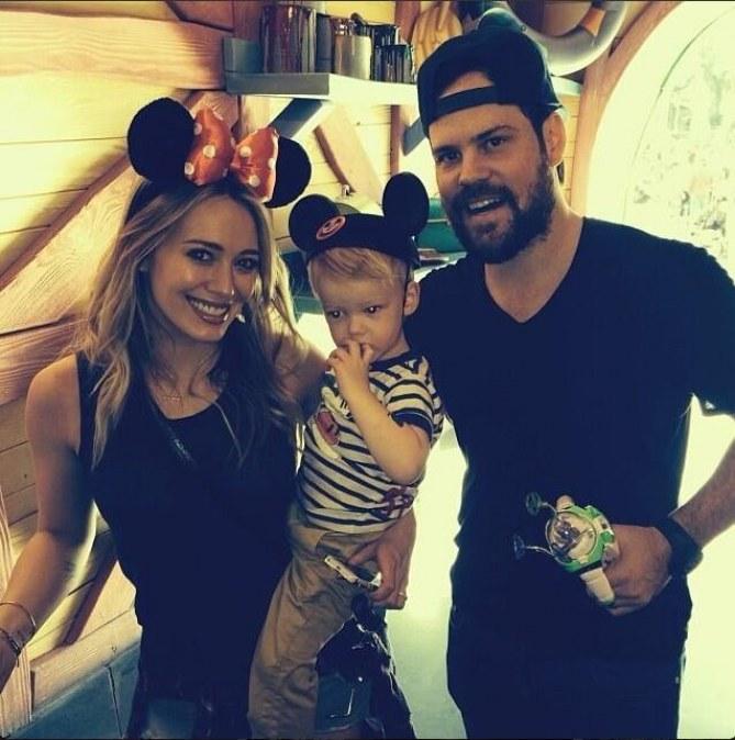 Hilary Duff, Mike Comrie et Luca