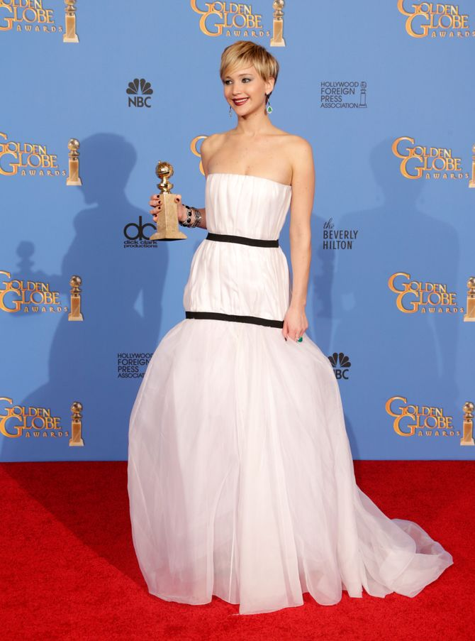 Jennifer Lawrence aux Golden Globes 2014