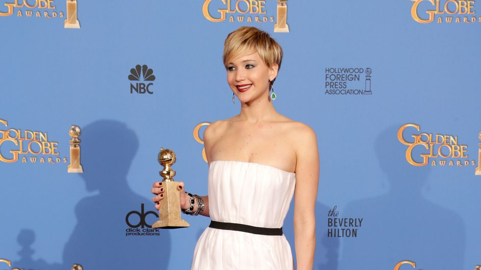 Golden Globes 2014 : Jennifer Lawrence éblouissante dans sa robe Dior (Photos)