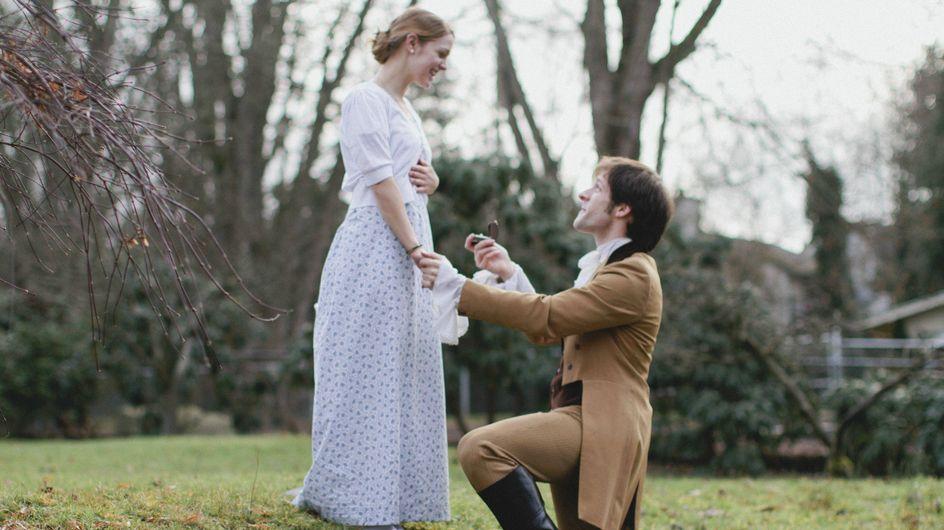"""Mariage : Il fait sa demande façon """"Orgueil et Préjugés"""" (photos)"""