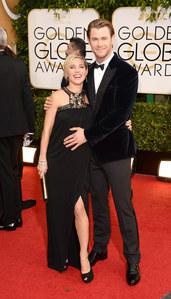 Chris Hemsworth et Elsa Pataky Golden Globes 2014