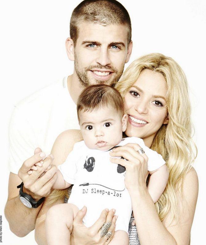 Shakira, Piqué y Milan