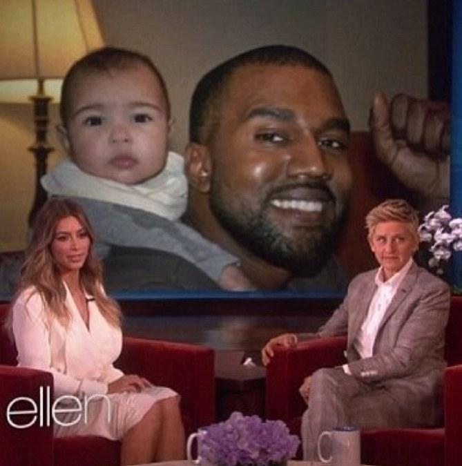 Kim Kardashian chez Ellen DeGeneres