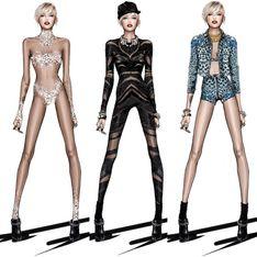 Miley Cyrus : Des looks signés Roberto Cavalli pour sa tournée
