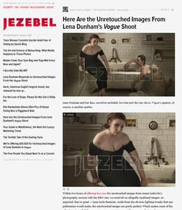 Lena Dunham auf jezebel.com