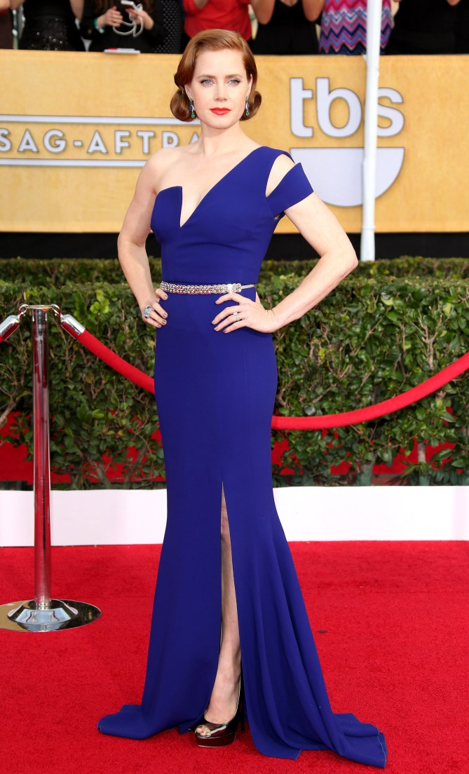 Amy Adams portait une robe Antonio Berardi aux SAG Awards