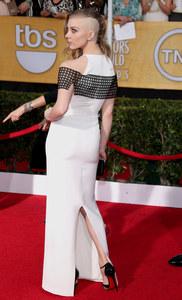 Natalie Dormer portait une robe Marios Schwab aux SAG Awards 2014