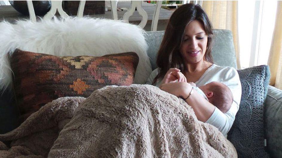 Sara Carbonero muestra su primera foto en casa con Martín