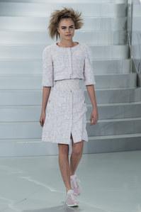 Cara Delevingne au défilé Chanel Haute Couture printemps-été 2014