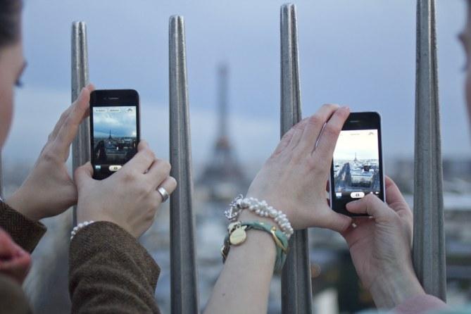 Aussicht vom Arc de Triomphe