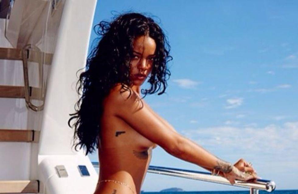 Rihanna : Topless au Brésil (Photos)