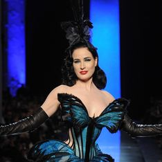 Dita Van Teese : Papillon Haute Couture pour Jean Paul Gaultier (photo)