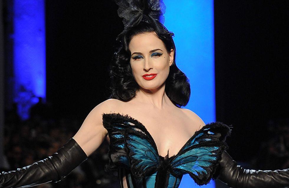 Dita Van Teese : Papillon Haute Couture pour Jean Paul Gaultier (photo)