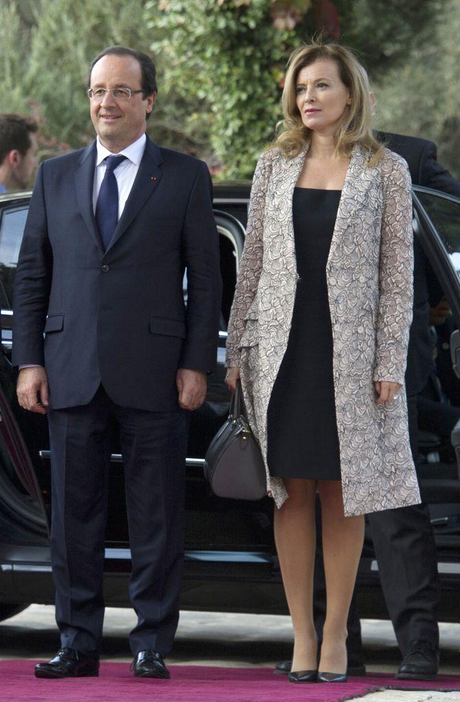 Valérie Trierweiler et François Hollande en visite en Israël