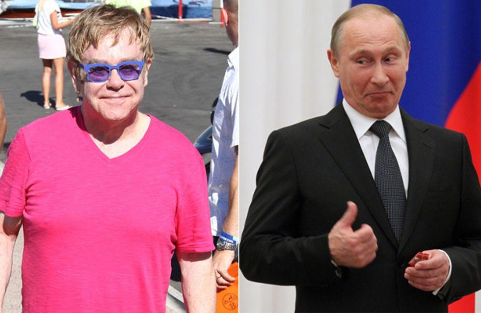 Coole Aktion: Elton John lädt Putin zu Schwulen-Treff ein!