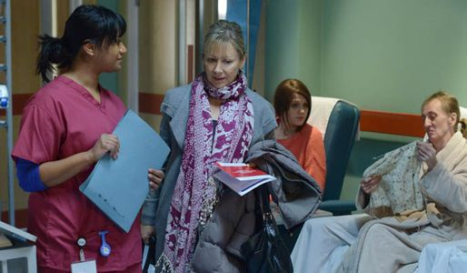 Carol attends her first chemotherapy session