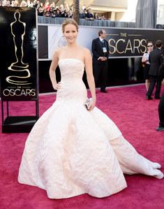 Jennifer Lawrence en Dior aux Oscars 2013