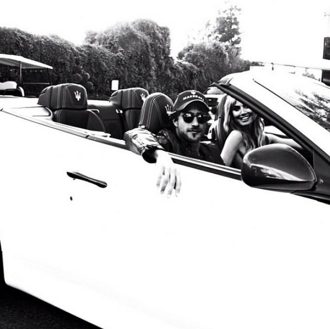 Heidi Klum & Francesco Carrozzini gemeinsam im Maserati