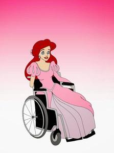 Ariel La Sirenita con minusvalía