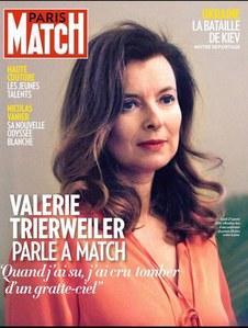 Valérie Trierweiler en Une de Paris Match