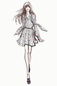 Une robe de la collection capsule Zooey Deschanel x Zooey Deschanel