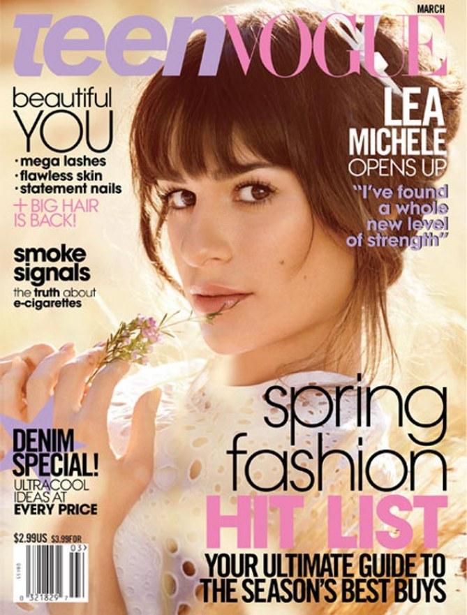 Lea Michele en couverture de Teen Vogue