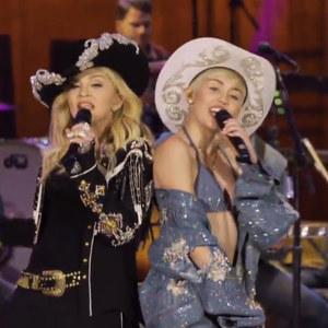 Miley Cyrus et Madonna