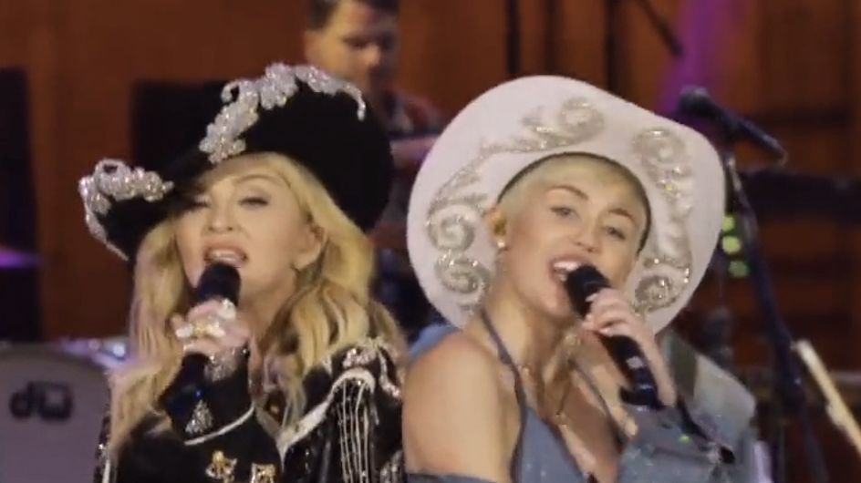 Miley Cyrus : Elle donne des fessées à Madonna (Vidéo)
