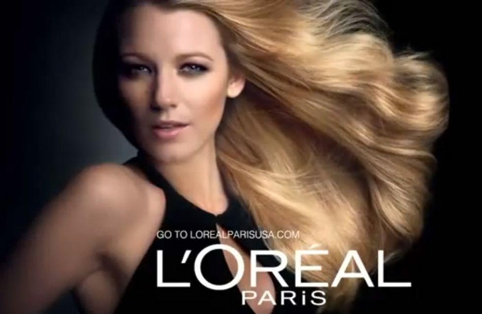 Blake Lively : Envoûtante pour sa première publicité L'Oréal Paris (Vidéo)